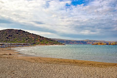 Strand von Vai auf der Insel von Kreta Stockbilder