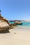 Strand in Wadi Darbat, Taqah (Oman) stock afbeelding