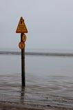 Strand-WARNING Lizenzfreie Stockbilder