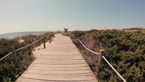 Strand-Weg Formenteras Ibiza stock footage