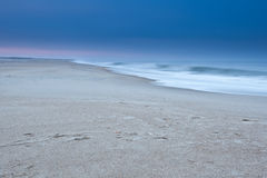 Strand am Winter Lizenzfreies Stockfoto