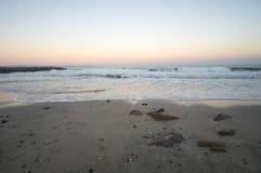 Strand Winter-Schwarzen Meers Lizenzfreie Stockfotografie