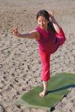 Strand-Yoga Stockfotografie