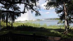 Strand Zambezi River Zambia Fotografering för Bildbyråer