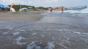 Strand, zand en overzees in AHtopol royalty-vrije stock foto's