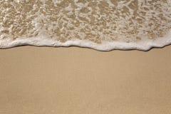 Strand, zand, vakantie en overzeese achtergrond Stock Afbeeldingen