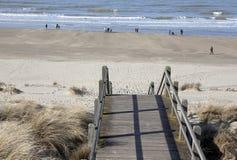 Strand, Zeebrugge, Belgien Stockbilder