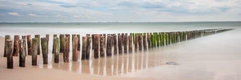 Strand Zeeland, longexposure Royaltyfri Fotografi
