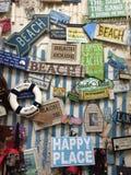 Strand-Zeichen Stockfoto