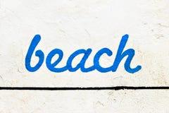 Strand-Zeichen Stockbilder