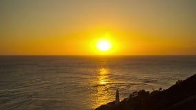 Strand-Zeitspanne-Küstenlinien-Sonnenuntergang stock footage