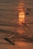 Strand in zonsopgang royalty-vrije stock afbeelding
