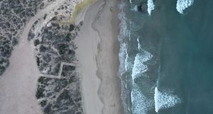 Strand Zuiden van Spanje stock footage