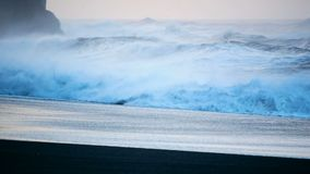 Strand zwart oceaanijsland stock videobeelden