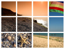 Strandabbildungen von Bulgarien Stockbild