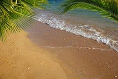 Strandachtergrond Stock Foto