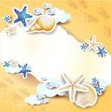 Strandachtergrond met exemplaarruimte Stock Afbeelding