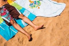 Strandactiviteiten Stock Afbeelding