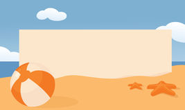 Strandaffisch vektor illustrationer