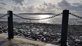 Strandansicht über Superstute Weston lizenzfreies stockbild