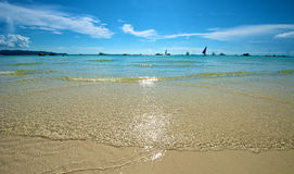 Strandansicht in Boracay Lizenzfreie Stockfotos