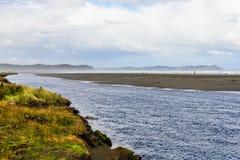 Strandansicht, Chiloe-Insel, Chile stockbild