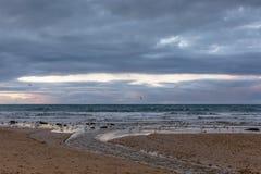 Strandansicht eines tasmanischen Strandes Lizenzfreie Stockbilder
