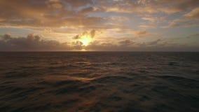 Strandar den övre sikten för det flyg- slutet av vattenvågor nära i Indiska oceanen, Mauritius Island stock video