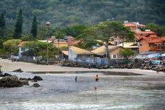 Strandarmacaoarmação, Florianopolis, Brasilien Arkivbilder