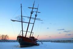 strandat fartyg Royaltyfri Fotografi