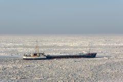 Strandat skepp för havsis Royaltyfri Bild