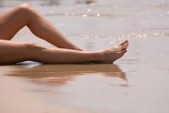 strandavkoppling Arkivfoto