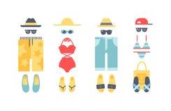 Strandbadebekleidungskleidungs-Vektorillustration Stockfotografie