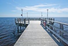 Strandbaden Falkenberg wooden pier Royalty Free Stock Photos
