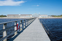Strandbaden Falkenberg wooden pier Stock Images