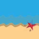 Strandbakgrund Royaltyfri Fotografi