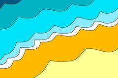 Strandbakgrundsillustration stock illustrationer