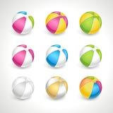 Strandballen geplaatst vector Stock Afbeelding