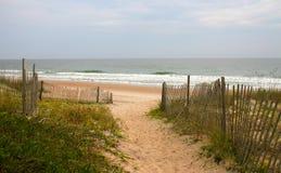 strandbana som är sandig till Fotografering för Bildbyråer