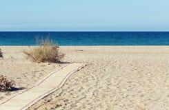 strandbana till Fotografering för Bildbyråer