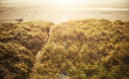 strandbana till långt fotografering för bildbyråer