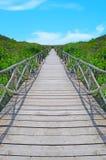 strandbana till trä Arkivbilder