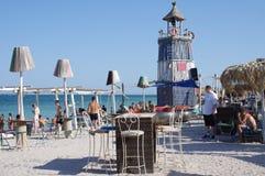Strandbar auf der Schwarzmeerküste Lizenzfreie Stockbilder