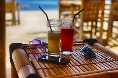 Strandbar, Strand, Indische Oceaan, Indonesië, GILI-lucht Royalty-vrije Stock Foto