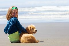 strandbarnvalp Royaltyfri Bild