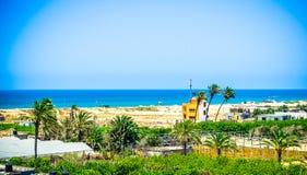 Strandbauernhöfe! Stockfoto