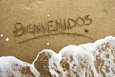 strandbienvenidos Fotografering för Bildbyråer
