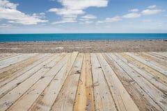strandboardwalk Arkivfoton