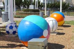 Strandbollar, Virginia Beach Virginia Arkivfoton