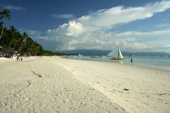 strandboracay ö vita philippines Royaltyfri Fotografi